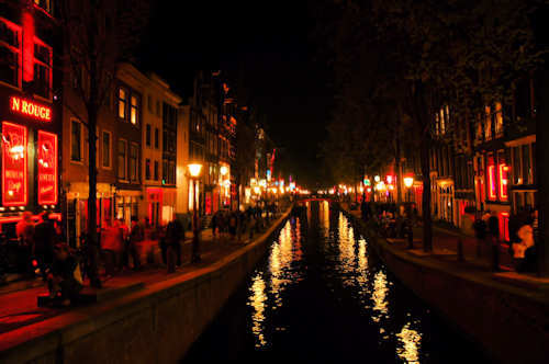 Red light district i Amsterdam - Foto: Gaute Nordvik