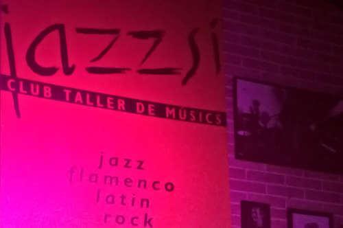 Bilde av vegg på klubben JazzSi – Foto: Ingvild Bræin