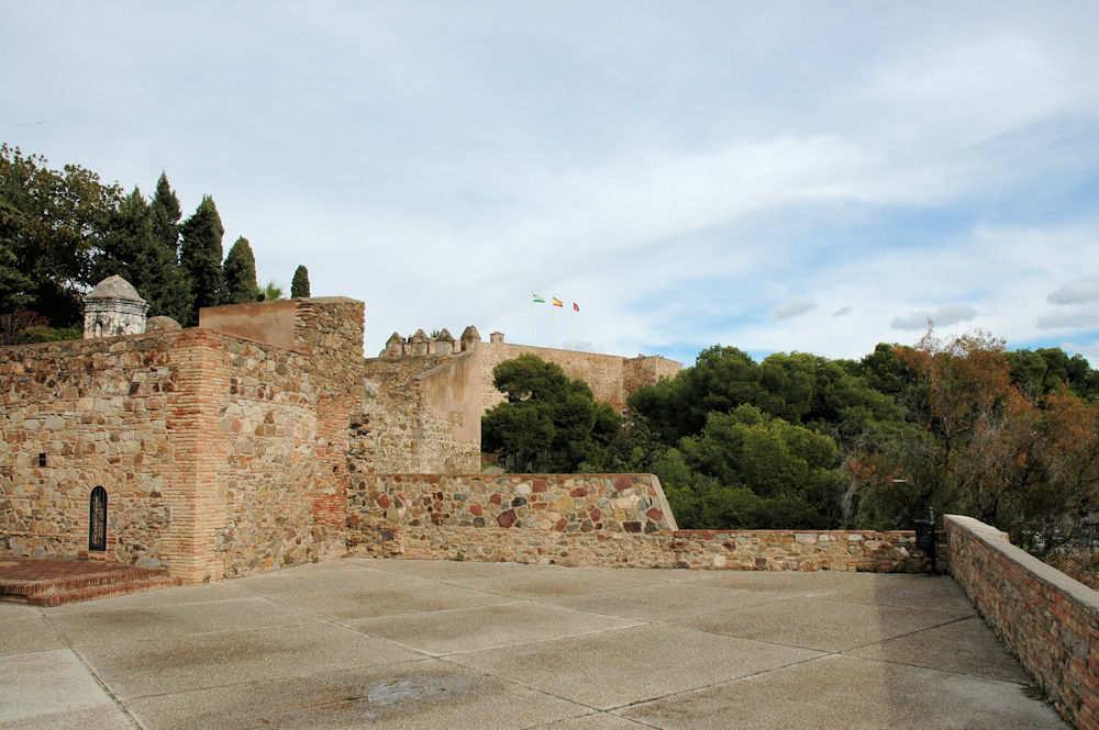 Gibralfaro-borgen i Málaga — Foto: Gaute Nordvik