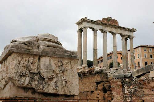 Ruiner på Forum Romanum - Foto: Gaute Nordvik